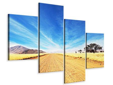 Leinwandbild 4-teilig modern Eine Landschaft in Afrika