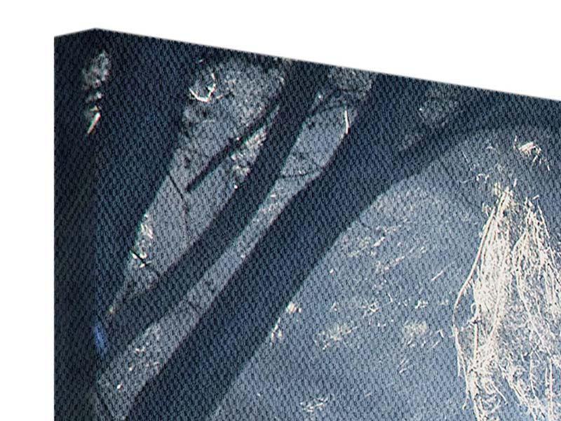 Leinwandbild 4-teilig modern Lichtdurchflutete Baumallee