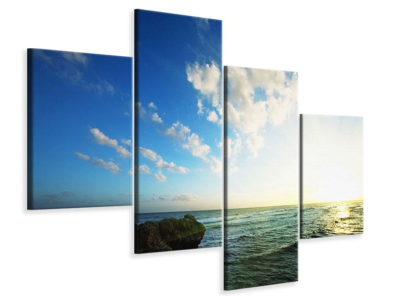 Leinwandbild 4-teilig modern Die See