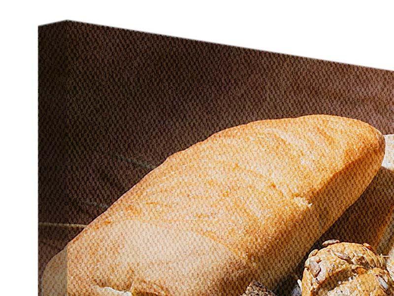 Leinwandbild 4-teilig modern Frühstücksbrote