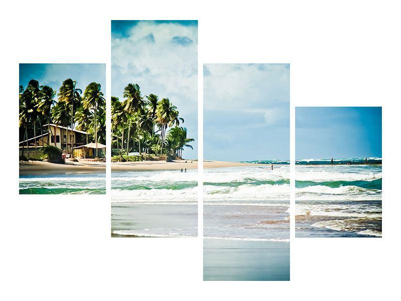 Leinwandbild 4-teilig modern The Beach