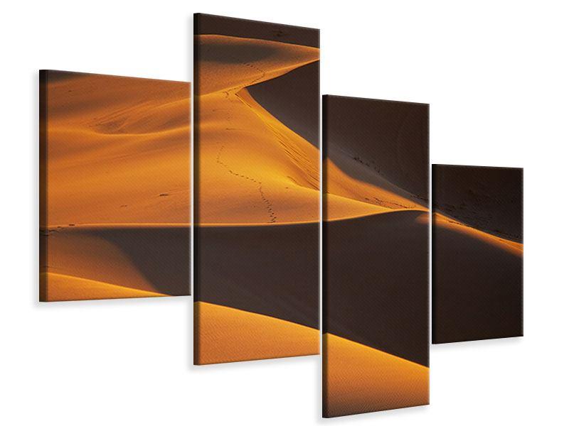 Leinwandbild 4-teilig modern Wüstensand