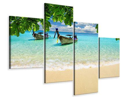 Leinwandbild 4-teilig modern Ein Blick auf das Meer