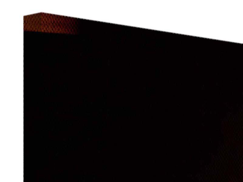 Leinwandbild 4-teilig modern Der Kamin