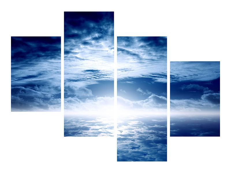Leinwandbild 4-teilig modern Mystischer Himmel
