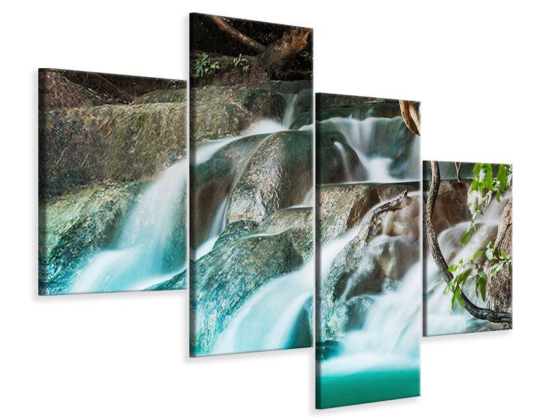 Leinwandbild 4-teilig modern Am Fluss des Lebens
