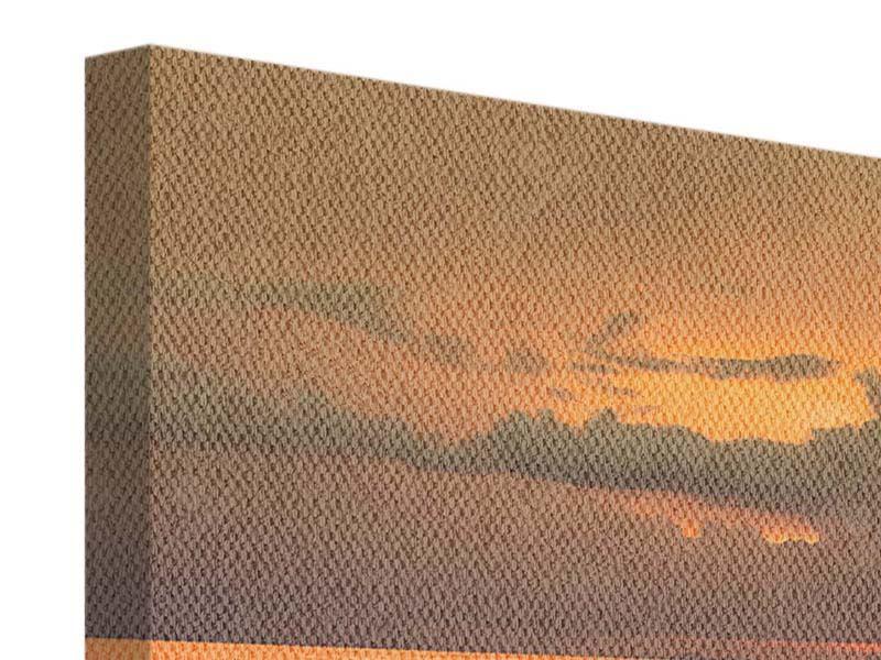 Leinwandbild 4-teilig modern Der Steg am Meer