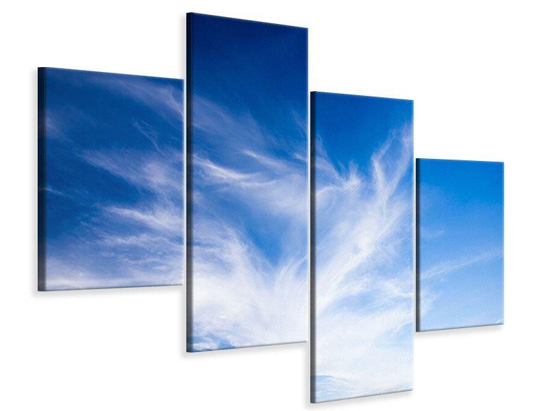 Leinwandbild 4-teilig modern Schleierwolken
