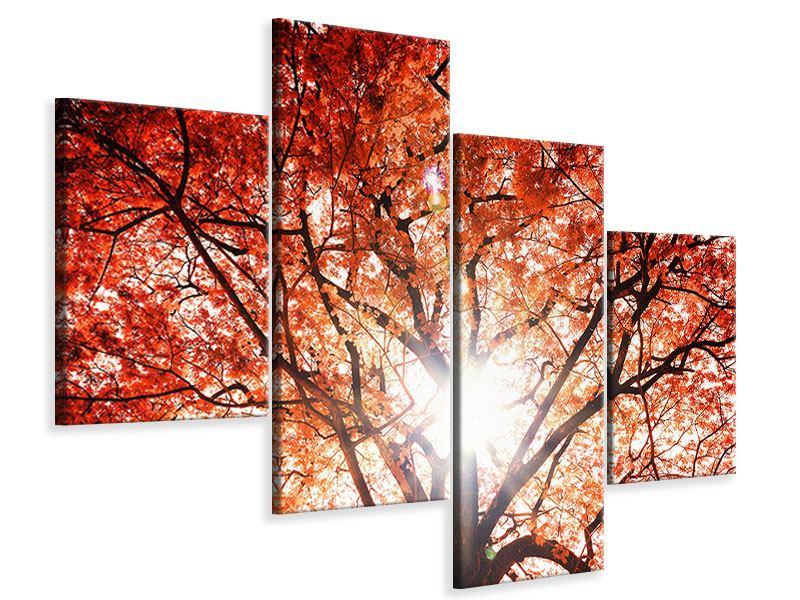 Leinwandbild 4-teilig modern Herbstlicht