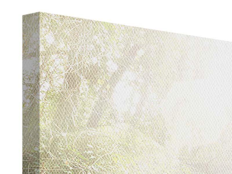 Leinwandbild 4-teilig modern Die grüne Lagune