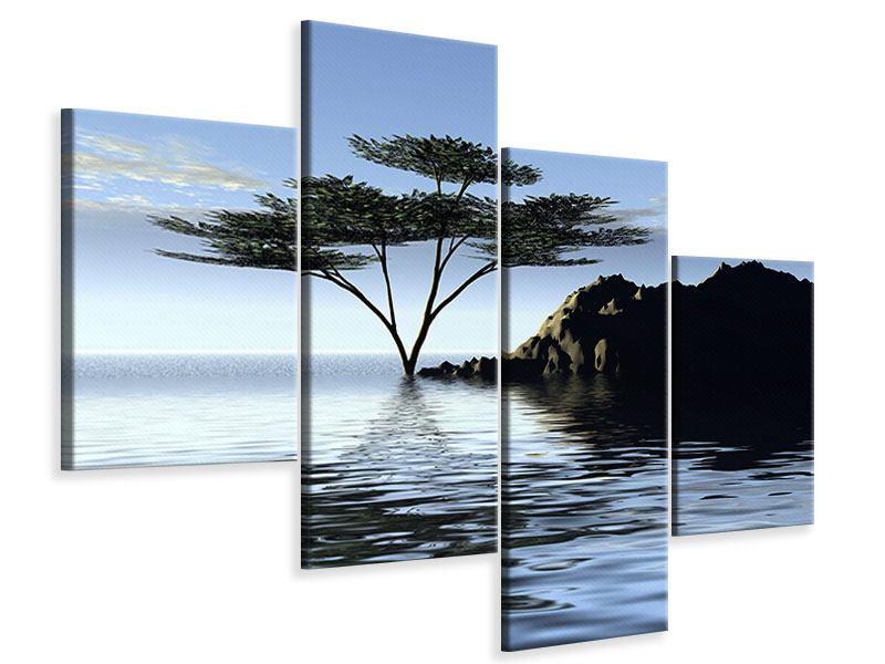 Leinwandbild 4-teilig modern Naturfaszination