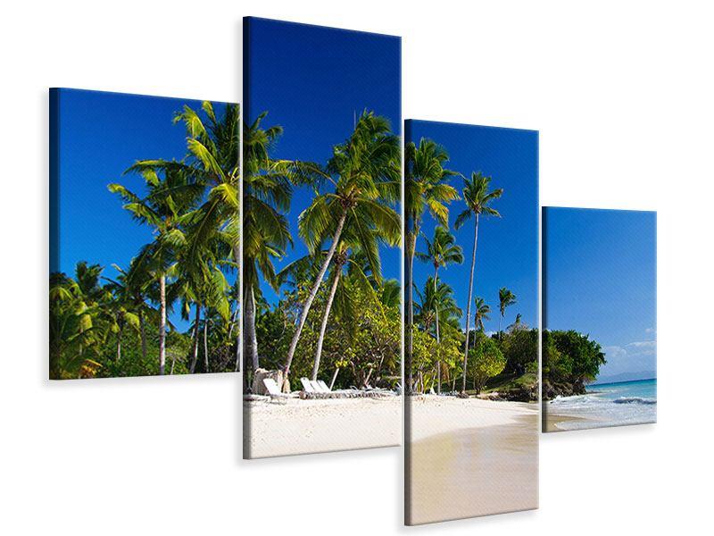 Leinwandbild 4-teilig modern Aloha