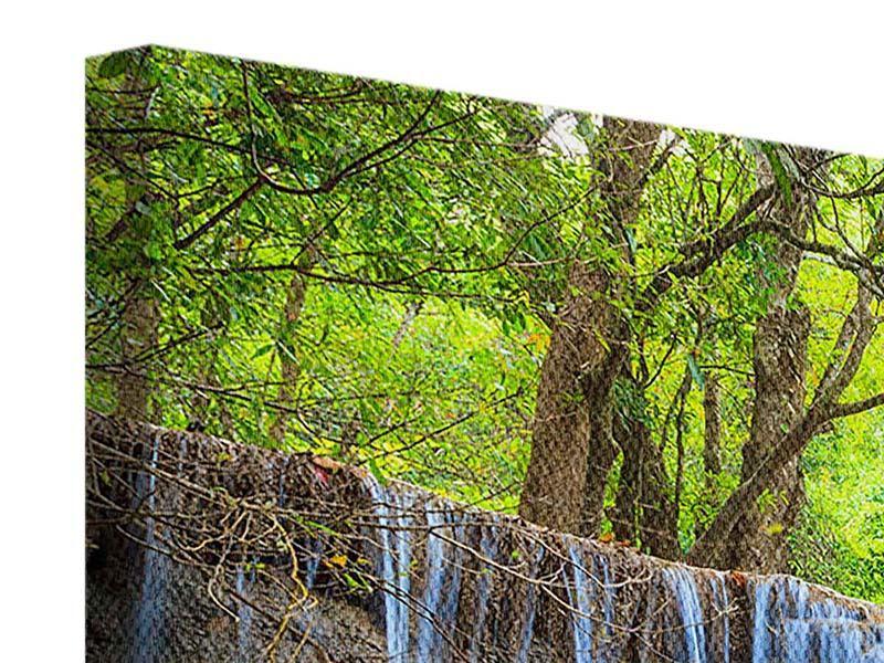 Leinwandbild 4-teilig modern Wasserfall Si Nakharin