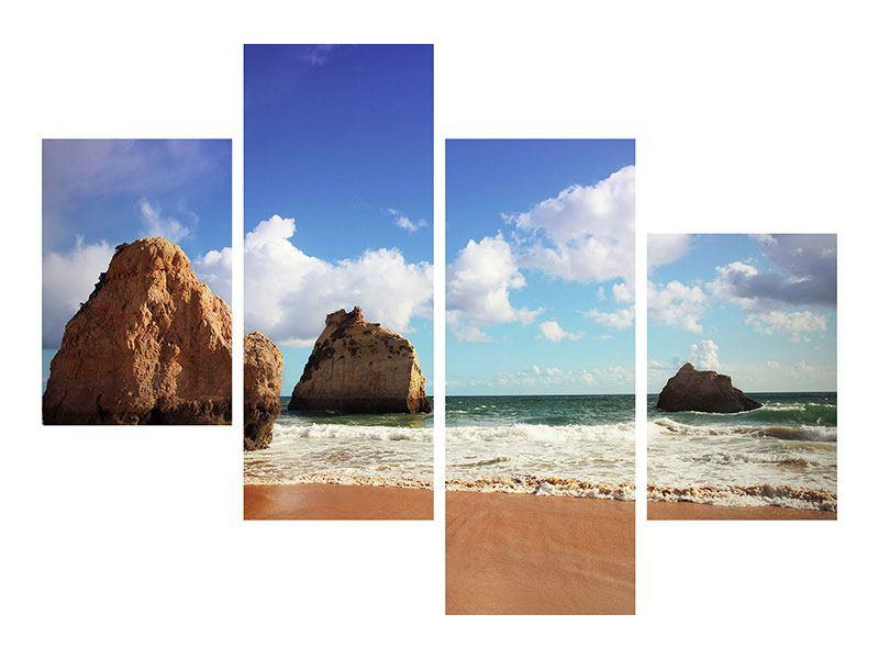 Leinwandbild 4-teilig modern Strandgedanken