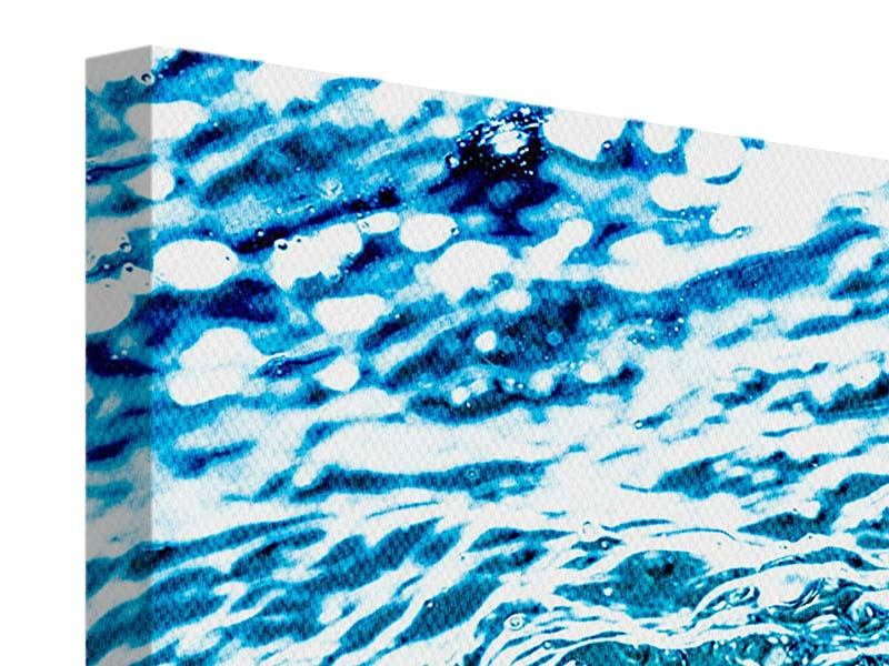 Leinwandbild 4-teilig modern Wasser in Bewegung