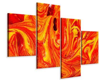 Leinwandbild 4-teilig modern Wandgemälde