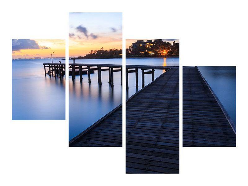 Leinwandbild 4-teilig modern Inseltraum