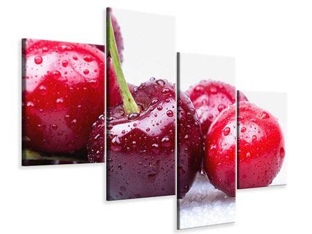 Leinwandbild 4-teilig modern Kirschen