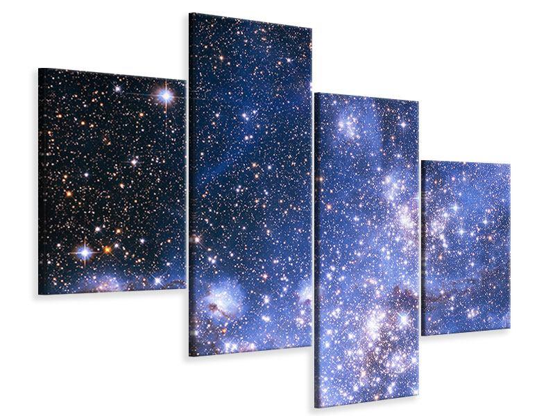 Leinwandbild 4-teilig modern Sternenhimmel