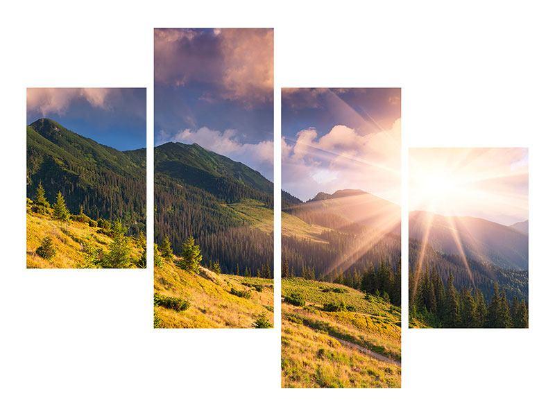 Leinwandbild 4-teilig modern Herbstanfang