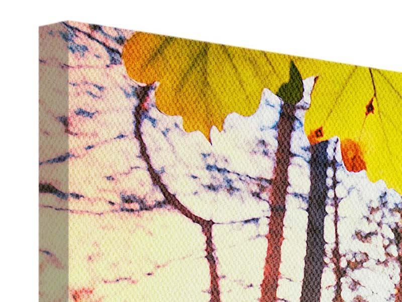Leinwandbild 4-teilig modern Herbst