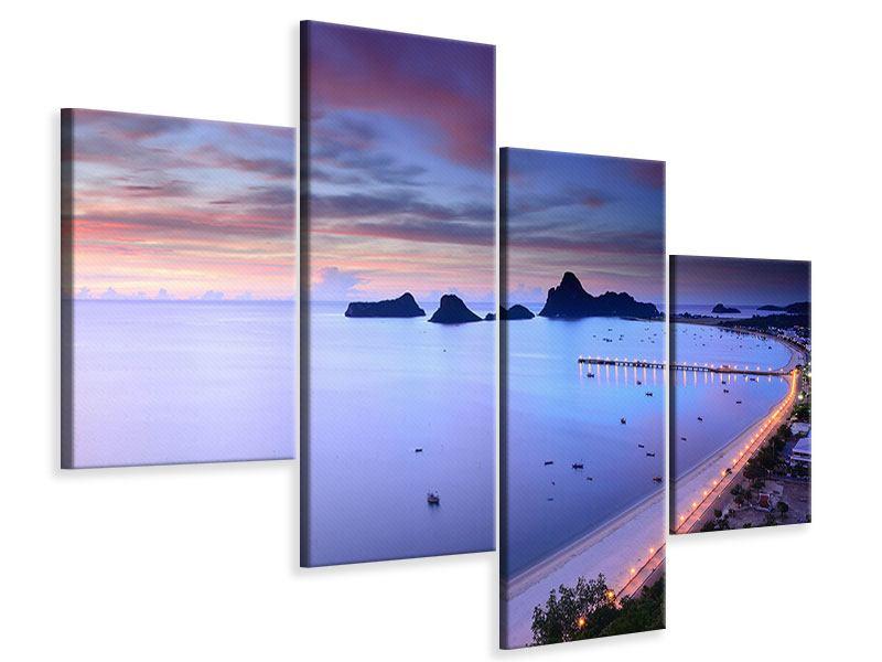 Leinwandbild 4-teilig modern Ano Manao Bucht