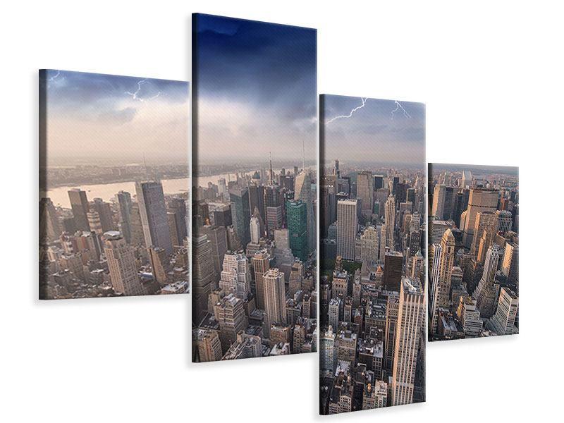 Leinwandbild 4-teilig modern Manhattan