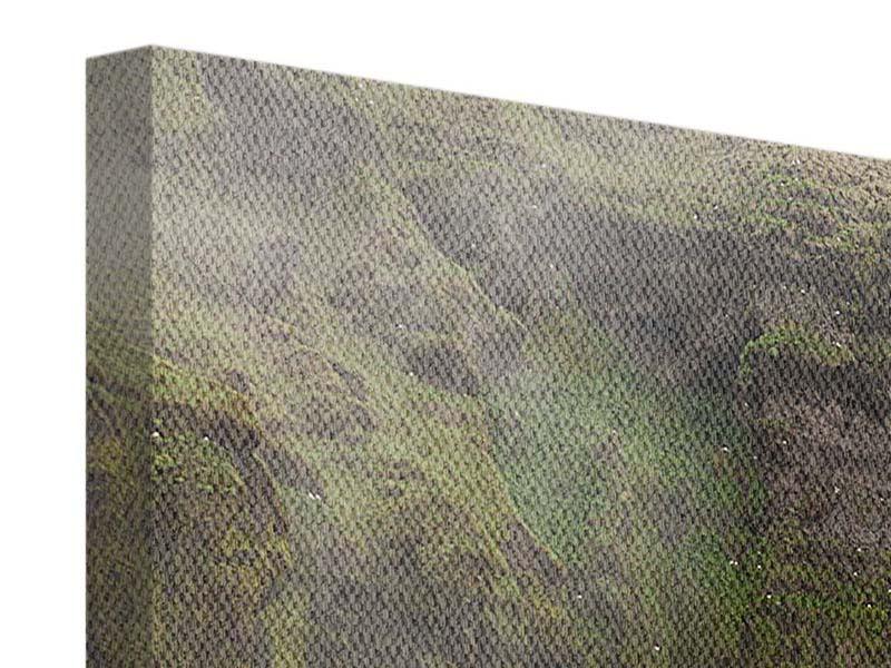 Leinwandbild 4-teilig modern Skogafoss