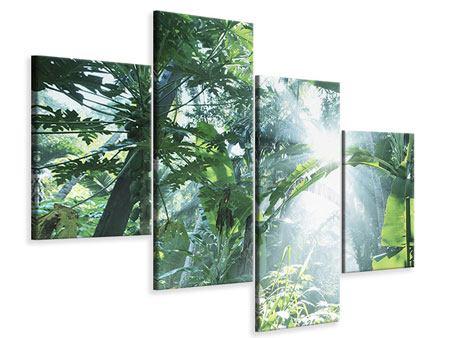 Leinwandbild 4-teilig modern Dschungelstar