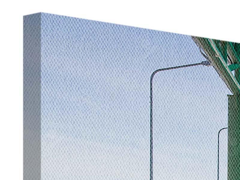 Leinwandbild 4-teilig modern Die Brücke am Meer