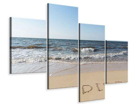 Leinwandbild 4-teilig modern Sandspuren