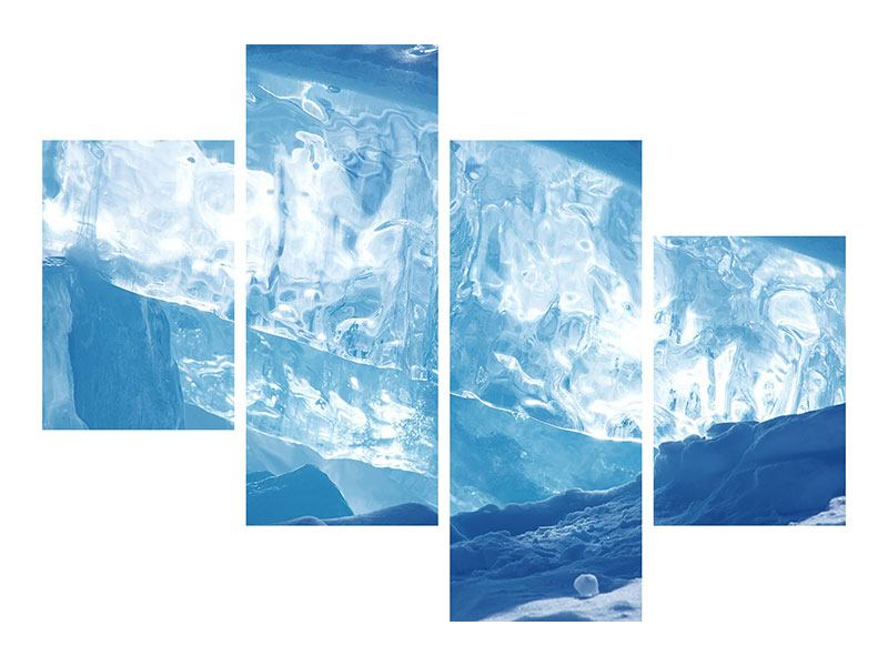 Leinwandbild 4-teilig modern Baikalsee-Eis