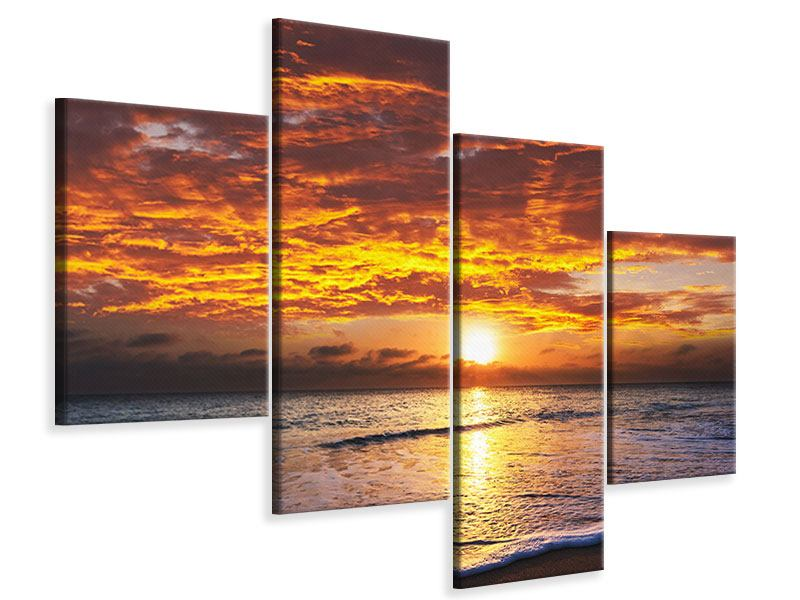 Leinwandbild 4-teilig modern Entspannung am Meer
