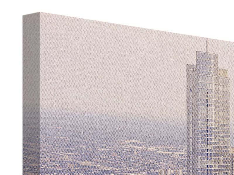 Leinwandbild 4-teilig modern Skyline Chicago in Sepia