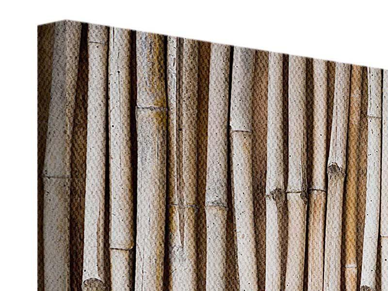Leinwandbild 4-teilig modern Getrocknete Bambusrohre