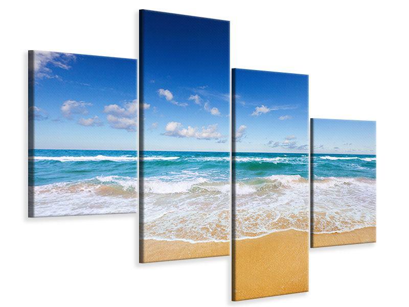 Leinwandbild 4-teilig modern Die Gezeiten und das Meer