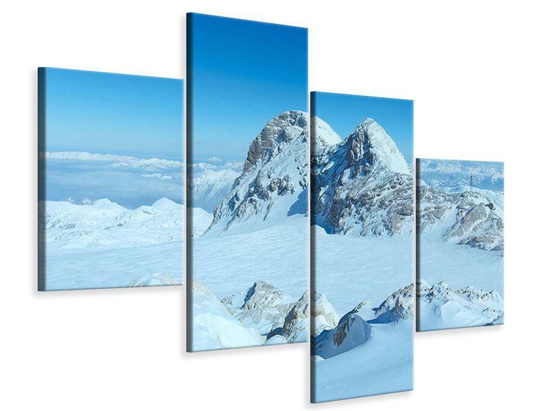 Leinwandbild 4-teilig modern Über den Wolken