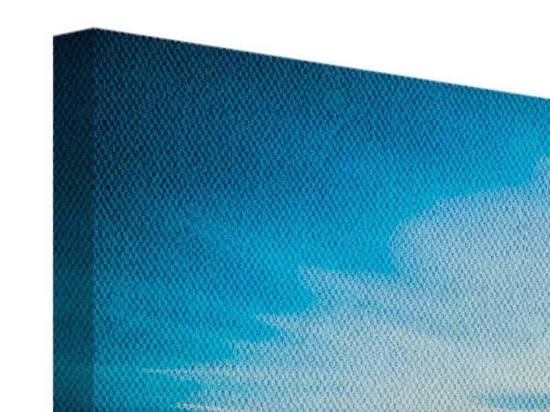 Leinwandbild 4-teilig modern Brückenimpression