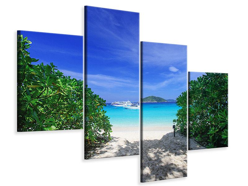 Leinwandbild 4-teilig modern Similan-Inseln