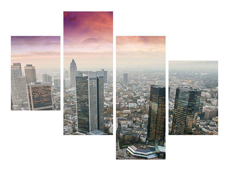 Leinwandbild 4-teilig modern Skyline Penthouse in New York