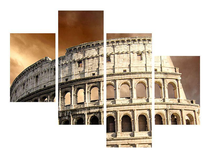Leinwandbild 4-teilig modern Kolosseum Rom