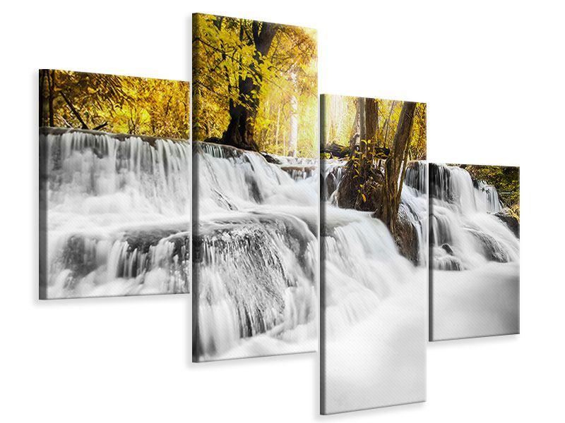 Leinwandbild 4-teilig modern Wasser in Aktion