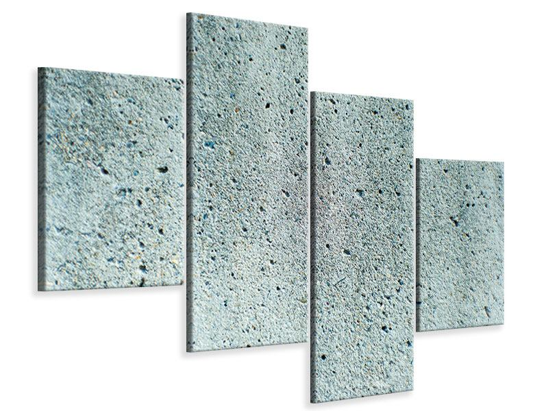 Leinwandbild 4-teilig modern Beton in Grau