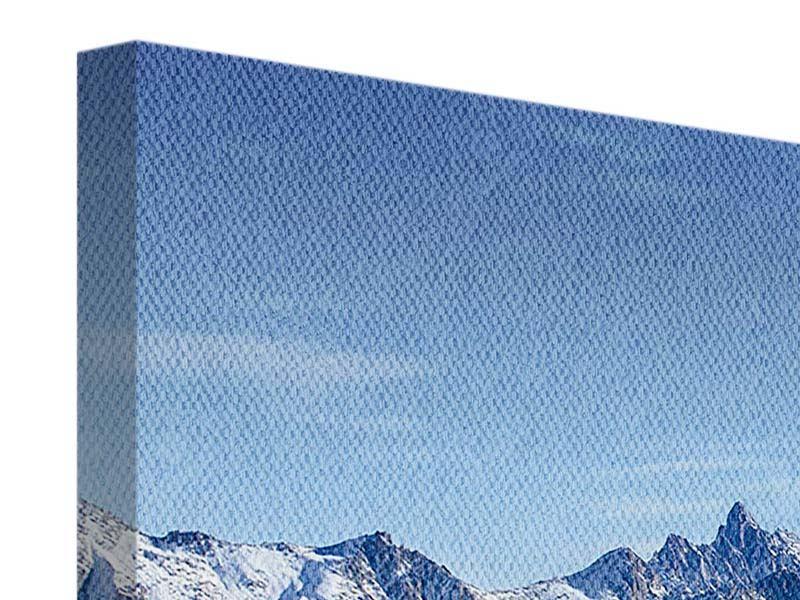 Leinwandbild 4-teilig modern Gipfelspitzen
