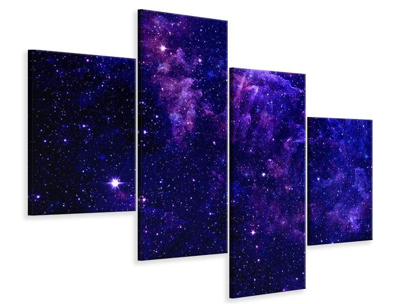 Leinwandbild 4-teilig modern Ein Himmel voll Sterne