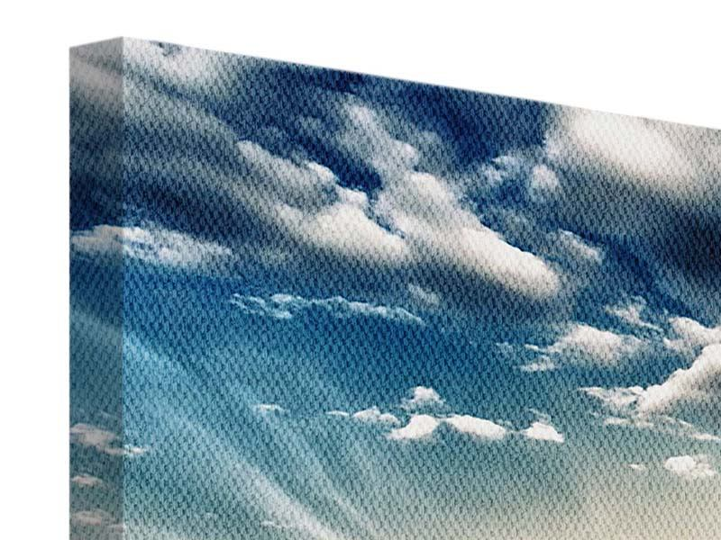 Leinwandbild 4-teilig modern Skyline Über den Dächern von London