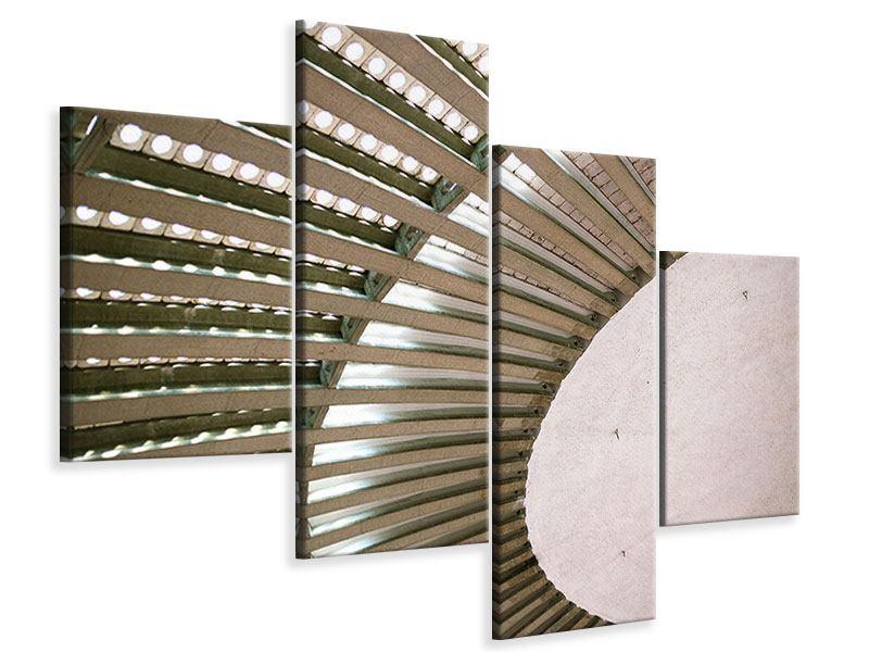 Leinwandbild 4-teilig modern Abstraktes Rad