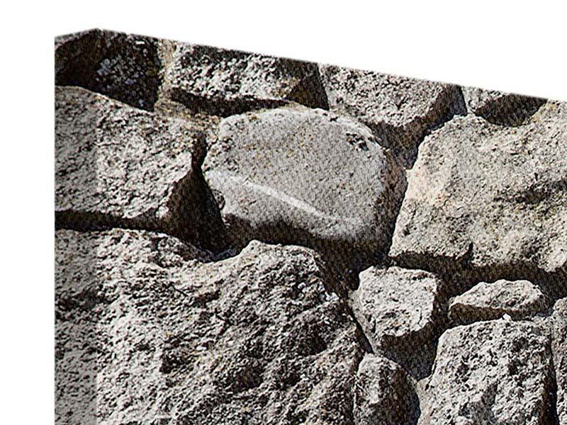 Leinwandbild 4-teilig modern Grosses Mauerwerk