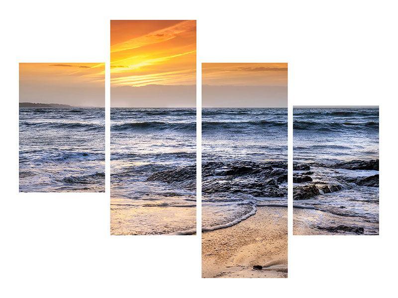 Leinwandbild 4-teilig modern Das Meer