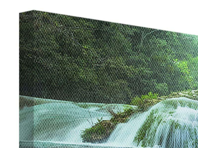 Leinwandbild 4-teilig modern Gigantischer Wasserfall